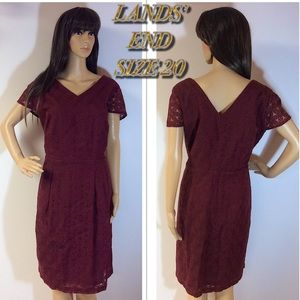 SZ 20W LANDS' END FIT AND FLARE DRESS